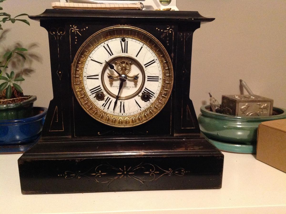 Ansonia open escapement mantel clock | Collectors Weekly