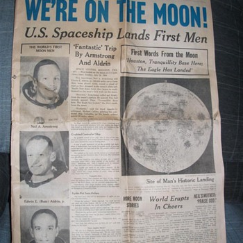 Des Moines Register -Man On The Moon - Paper