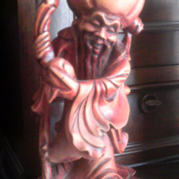 Chinese Wood Statue - Asian