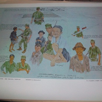 U.S. MARINE CORPS COMBAT ART COLLECTION PRINT