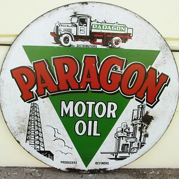 Paragon porcelain sign.