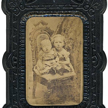 CDVs Mounted in Paper Frames: Cute Children - Photographs