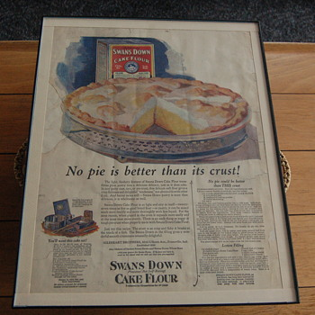 Advertisement for Swans Down Cake Flour
