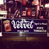 Original  Velvet Pipe and Cigarette Tobacco Porcelain Sign