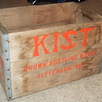 Kist Beverage Bottle Crate - Advertising