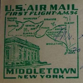 U.S. Air Mail First Flight A.M. 94 Middletown, New York-Looking for information