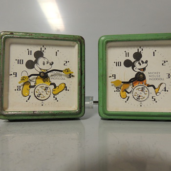 1930s ENGLISH MICKEY MOUSE CLOCKS - Clocks