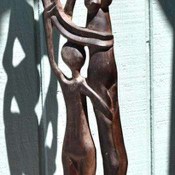 Shona Wood Statue - Family Group  - Visual Art