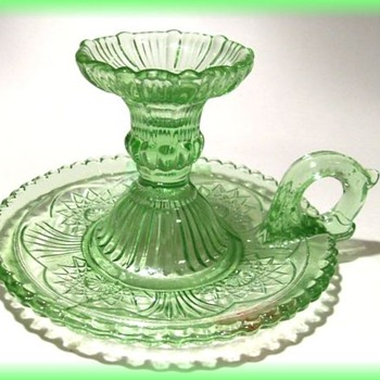 Glass Pressed Candle Holder -  Zabkowice GLASS of Poland