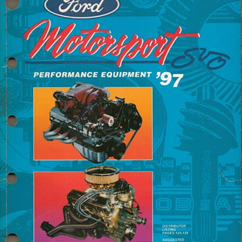 1997 Ford Motorsport Catalog - Books