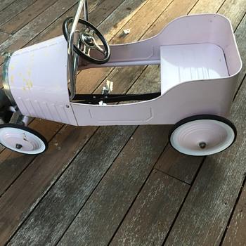 Pink Pedal Car