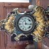 Large Gilbert mantle porcelain mantle clock