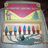 Antique C6 series wired GOOD-LITE christmas light set in original box