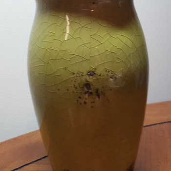 Crude Looking Green Vase
