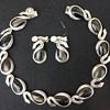 Antonio Pineda Swan Necklace and Earrings