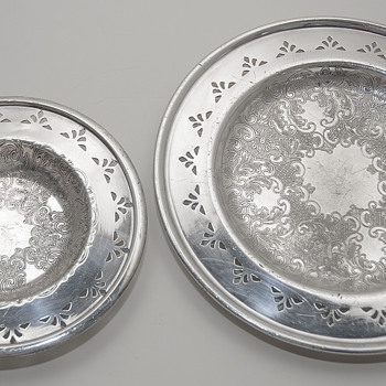 Lead Trays with applied Silver, made in Canada by Benedict & Proctor Mfg.