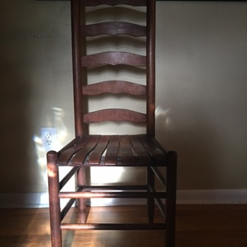 Trying to find info on these ladder back chair with slat seats