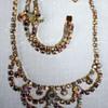 Vintage AB necklace and bracelet