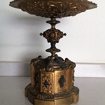 Ornate Calling Card Pedestal Tray
