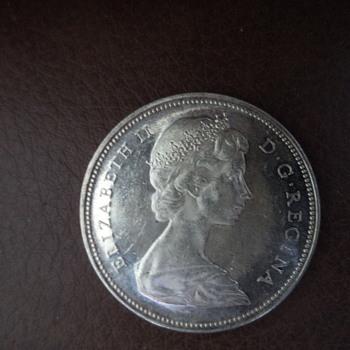 1966 Canadian Silver Dollar - World Coins