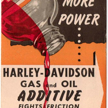 Harley-Davidson Gas & Oil Additive Ad Pamphlet - 1960