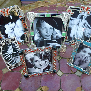1030s Enamel and Diamonte Picture Frames