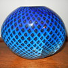 Eickholt Studio, Blue Quilt Glass Vase