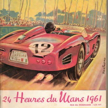 1961 - 24 Hours LeMans Endurance Race Program - Paper