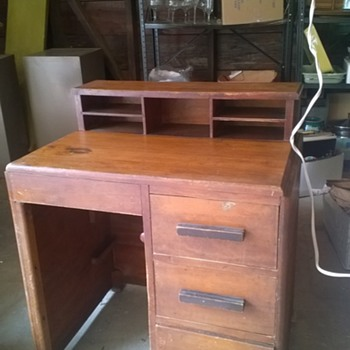 Old child's wooden desk