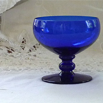 Cobalt crystal glass