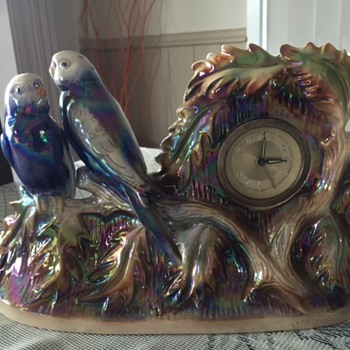Jema Holland Twin Budgies Mantle Clock numbered (401) - Clocks