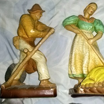 Two Vintage Russian Ceramic Figures