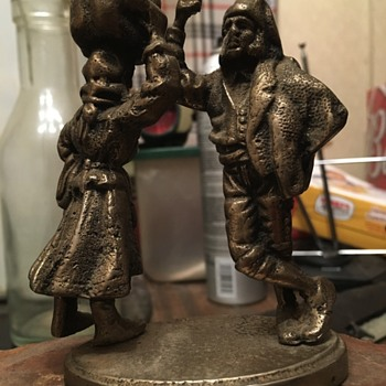 Antique Dancing metal figurine