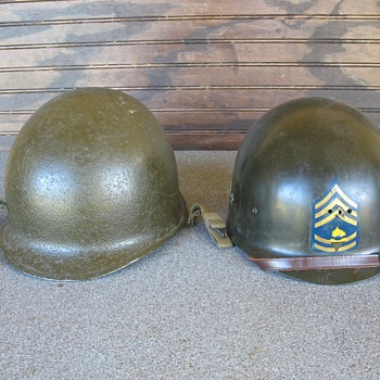 WWII M1 helmet from Korean War era 1950's - Military and Wartime