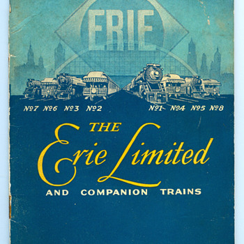 Erie Limited Ephemera Collection - Railroadiana