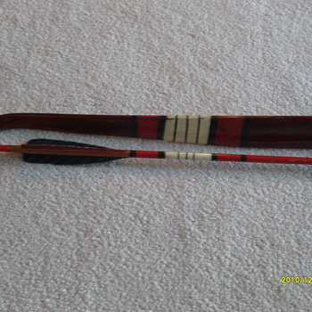 Old Hand Painted Bow &amp; Arrow