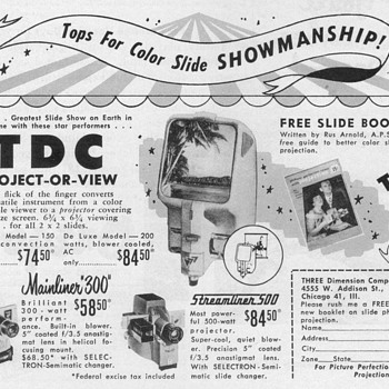 1952 - TDC Slide Viewers Advertisement - Advertising