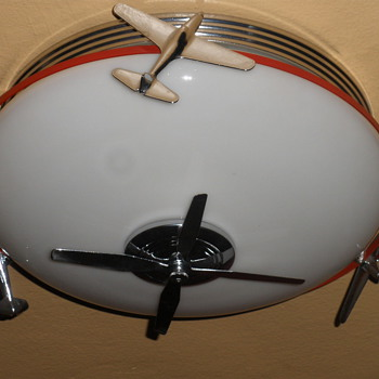 Airplane Art Deco Light Fixture