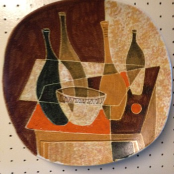 Mid Century Modern Decorative Wall Platter