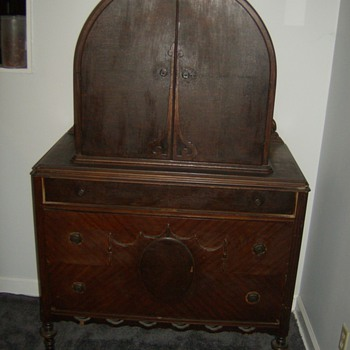Beautiful Antique Dome Top Chest of Drawers I Got From My Mom - Furniture