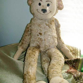 Old felt face Monkey circa 1930-40 - Dolls