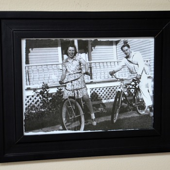 An Old Photo of My Memere and Pepere with their Bicycles
