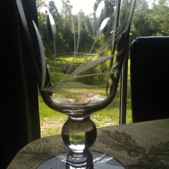 clear etched water goblets