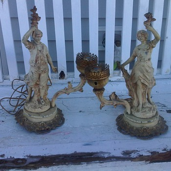 My GREAT find! Male and Female Lamps - Victorian  - Lamps
