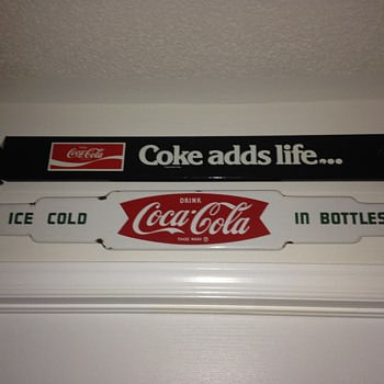1963 Coca-Cola Porcelain Push Bar