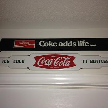 1963 Coca-Cola Porcelain Push Bar - Coca-Cola