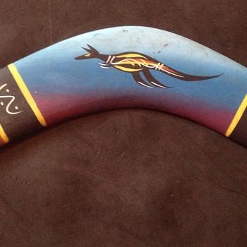 Hand painted Boomerang & Didgeridoo
