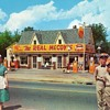 The Real McCoys Shell Gas Station and Cafe 1950's Postcard