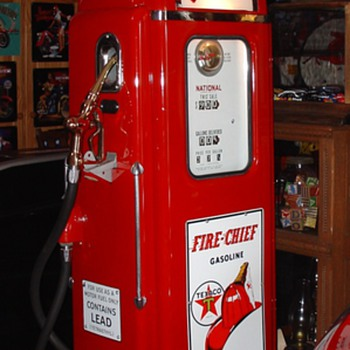National Gas Pump...Theme Is Texaco Fire Chief Gasoline...37 cents a gallon