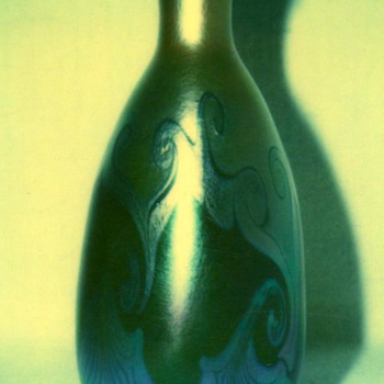 QUEZAL ART GLASS VASE, circa 1905